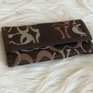 Vintage 💞COACH 💞leather canvas wallet